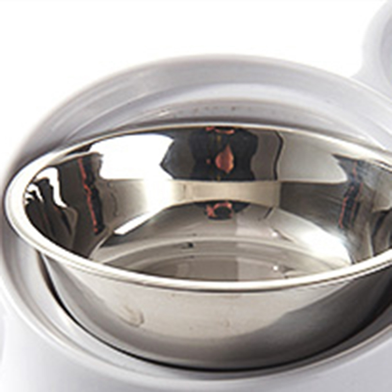 thumbnail 3 - Double Pet Bowls Dog Food Water Feeder Stainless Steel Pet Drinking Dish Fe A1Q9