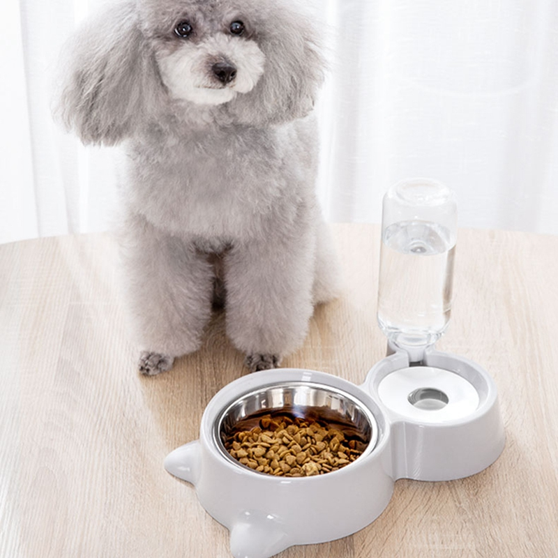 thumbnail 5 - Double Pet Bowls Dog Food Water Feeder Stainless Steel Pet Drinking Dish Fe A1Q9