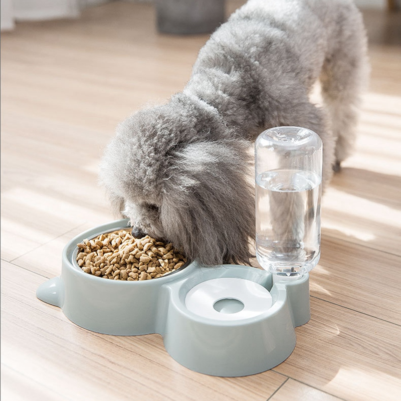thumbnail 9 - Double Pet Bowls Dog Food Water Feeder Stainless Steel Pet Drinking Dish Fe A1Q9