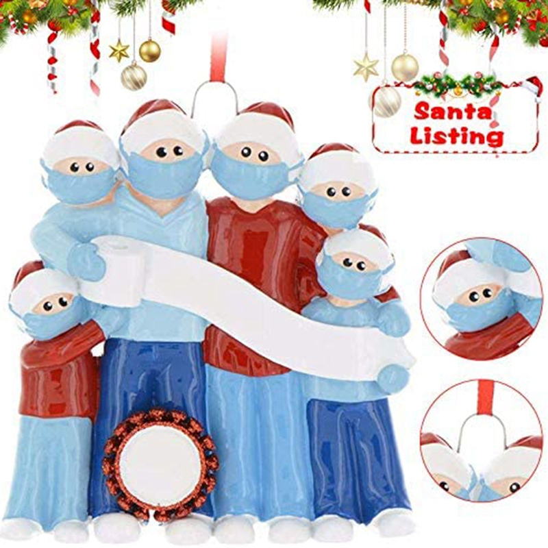 miniature 3 - Ornement-Sapin-de-Noel-Ornements-Noel-Famille-de-Decorations-de-Noel-Personn-x9k