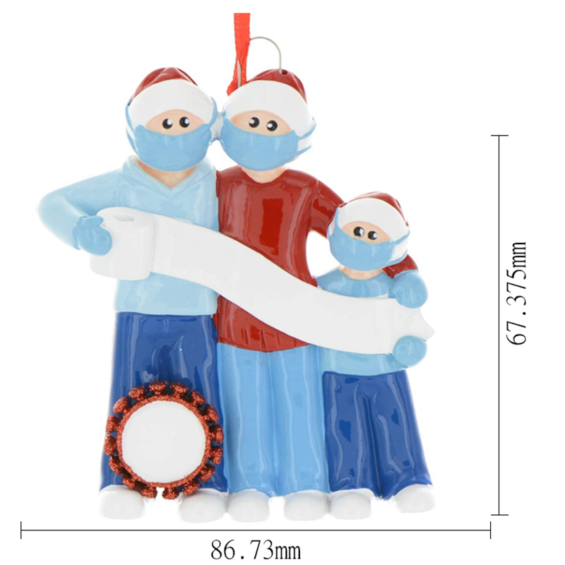 miniature 4 - Ornement-Sapin-de-Noel-Ornements-Noel-Famille-de-Decorations-de-Noel-Personn-x9k