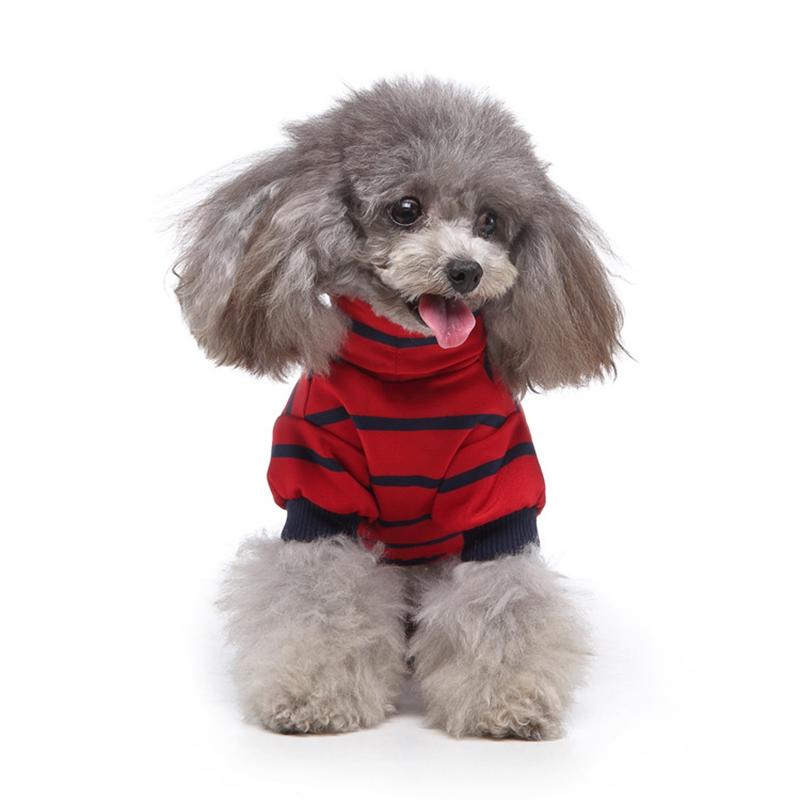 Indexbild 9 - Gestreifte Baumwolle Haustier Hund Kleidung Winter Warme Hund Overalls Stra Q9L2