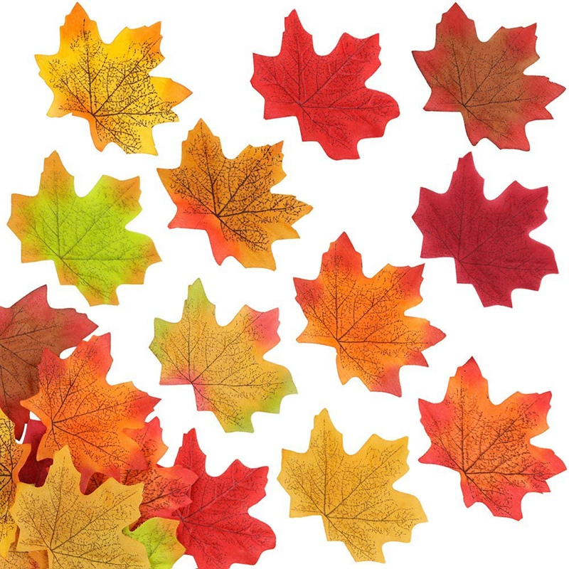 thumbnail 4 - Artificial-Maple-Leaves-Fake-Fall-Leaves-Autumn-Leaves-for-Thanksgiving-Hal-J9N5