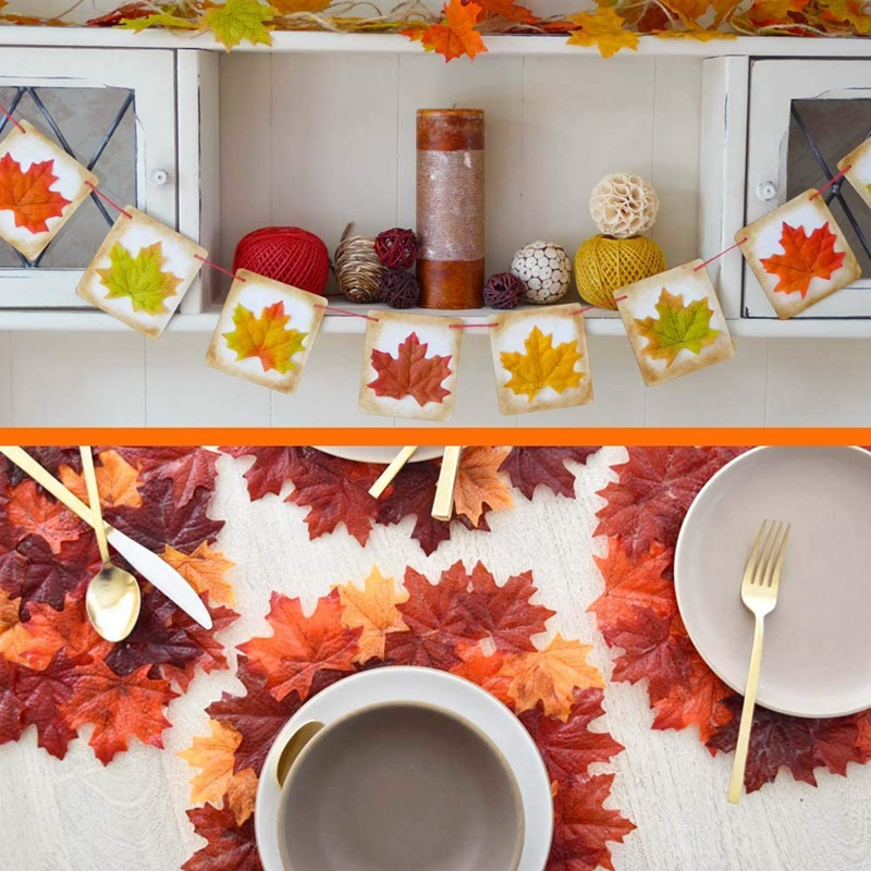thumbnail 7 - Artificial-Maple-Leaves-Fake-Fall-Leaves-Autumn-Leaves-for-Thanksgiving-Hal-J9N5
