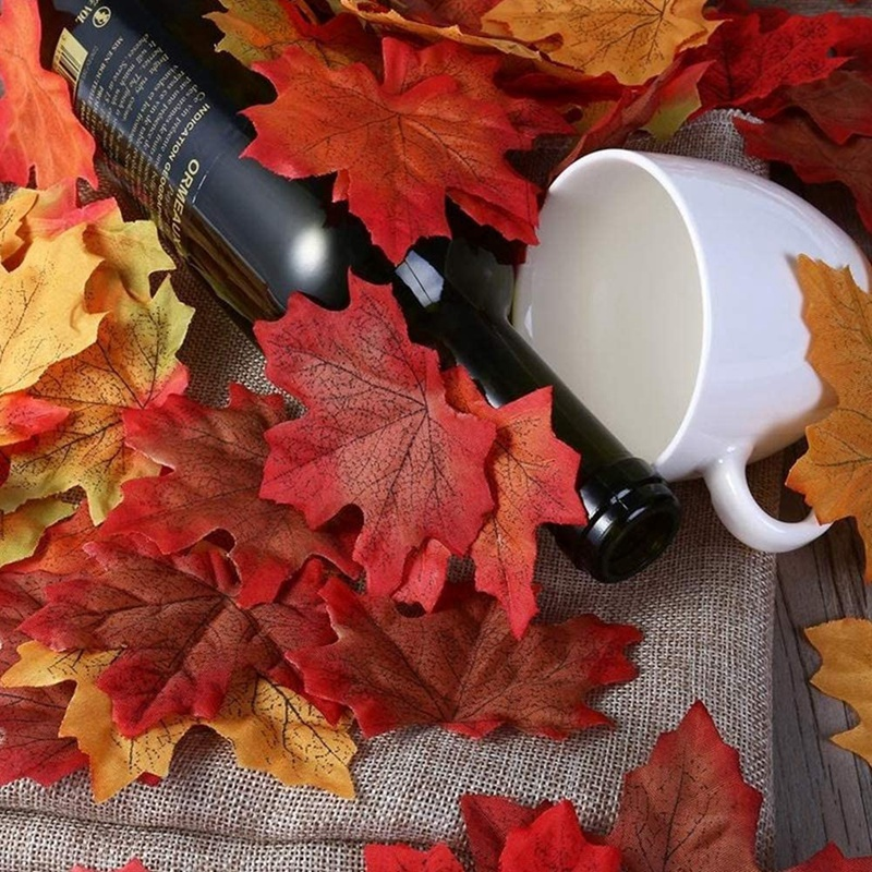 thumbnail 9 - Artificial-Maple-Leaves-Fake-Fall-Leaves-Autumn-Leaves-for-Thanksgiving-Hal-J9N5