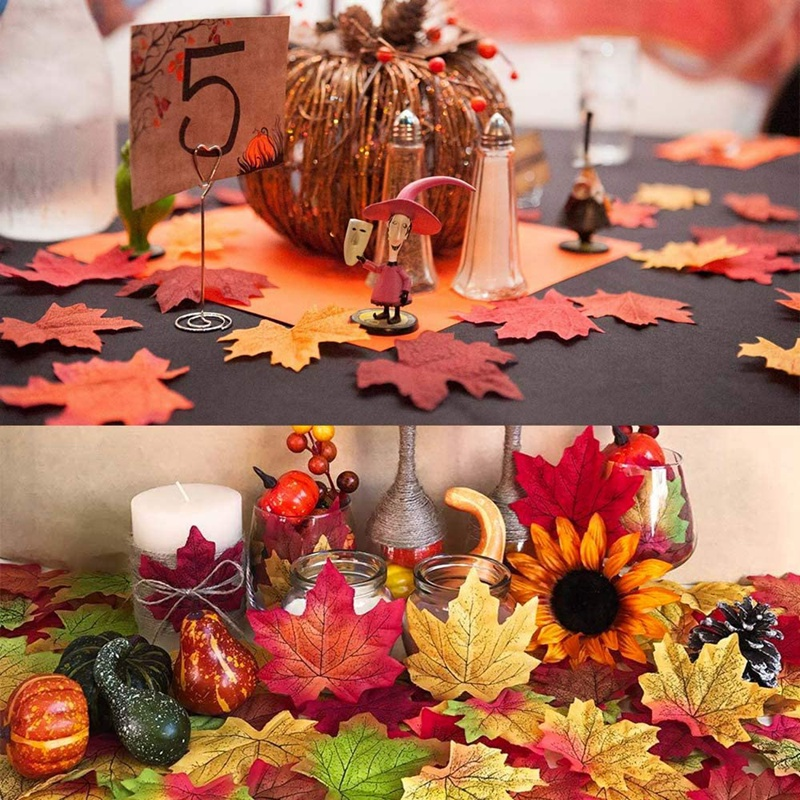 thumbnail 10 - Artificial-Maple-Leaves-Fake-Fall-Leaves-Autumn-Leaves-for-Thanksgiving-Hal-J9N5