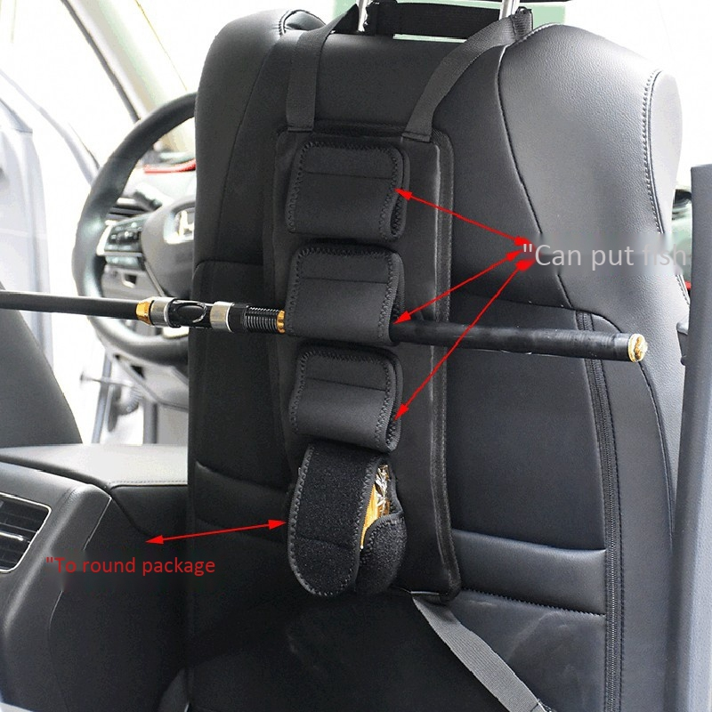 Wosiky Angelrutenhalter f/ür das Auto Auto Rutenhalter Angelrutengestell Einstellbarer verschlei/ßfester Angelriemenhalterg/ürtel 2 STK
