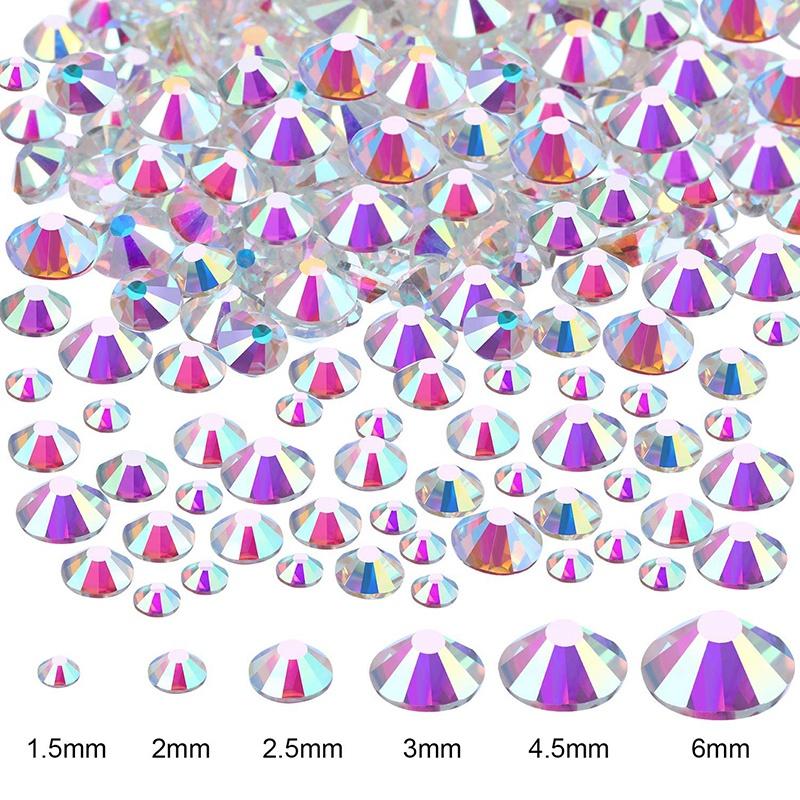 Indexbild 3 - 1X(Flat Back Gems Runde Kristall Strass mit Pinzette und Picking Pen für Cra4I1)