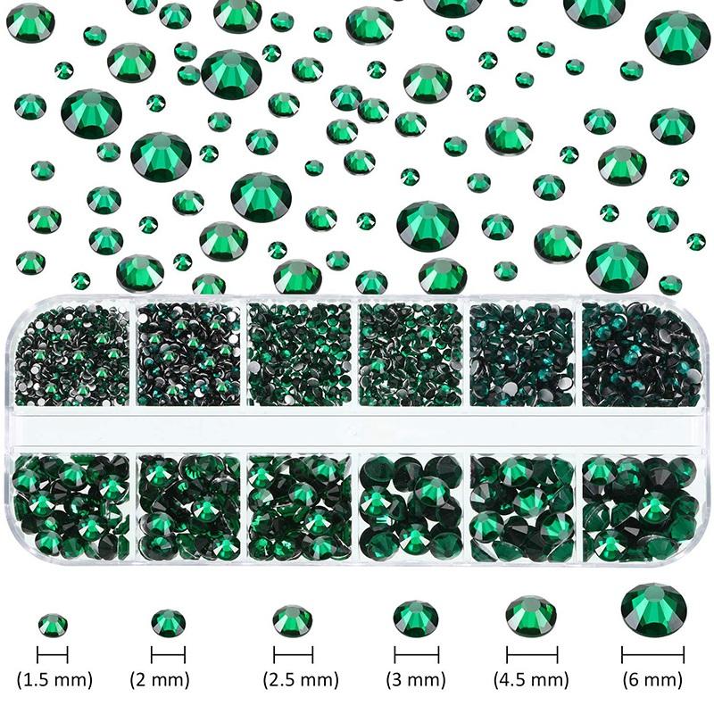 Indexbild 15 - 1X(Flat Back Gems Runde Kristall Strass mit Pinzette und Picking Pen für Cra4I1)