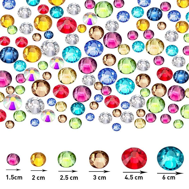 Indexbild 34 - 1X(Flat Back Gems Runde Kristall Strass mit Pinzette und Picking Pen für Cra4I1)