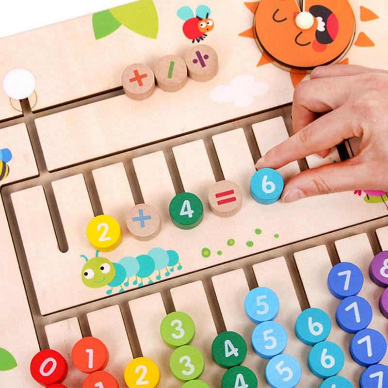 thumbnail 8 - Wooden-Toys-Digital-Computing-Toys-Kids-Education-Toys-Mathematic-Skills-an-H8M1