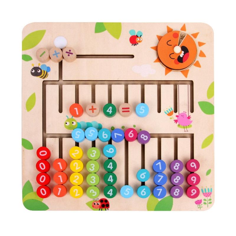 thumbnail 3 - Wooden-Toys-Digital-Computing-Toys-Kids-Education-Toys-Mathematic-Skills-an-H8M1