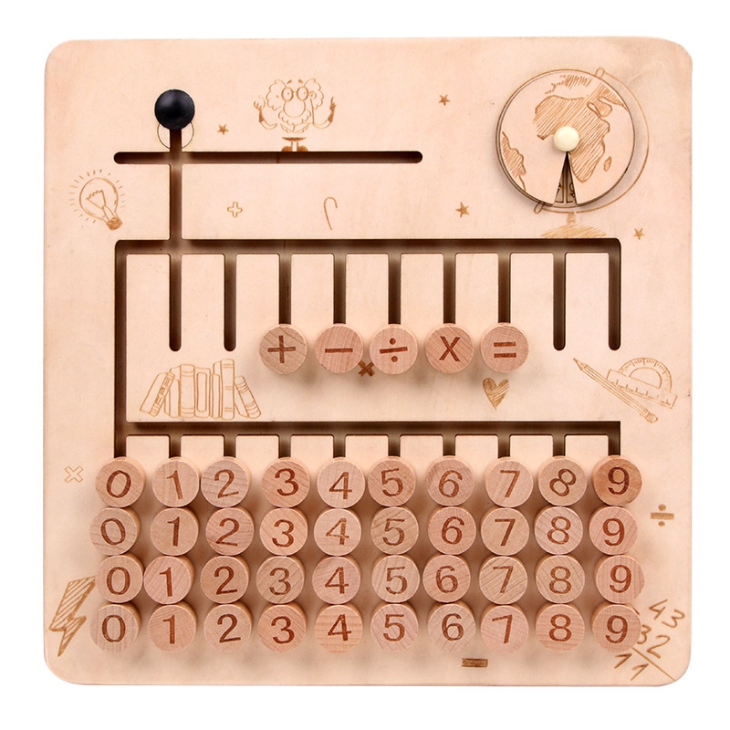 thumbnail 13 - Wooden-Toys-Digital-Computing-Toys-Kids-Education-Toys-Mathematic-Skills-an-H8M1