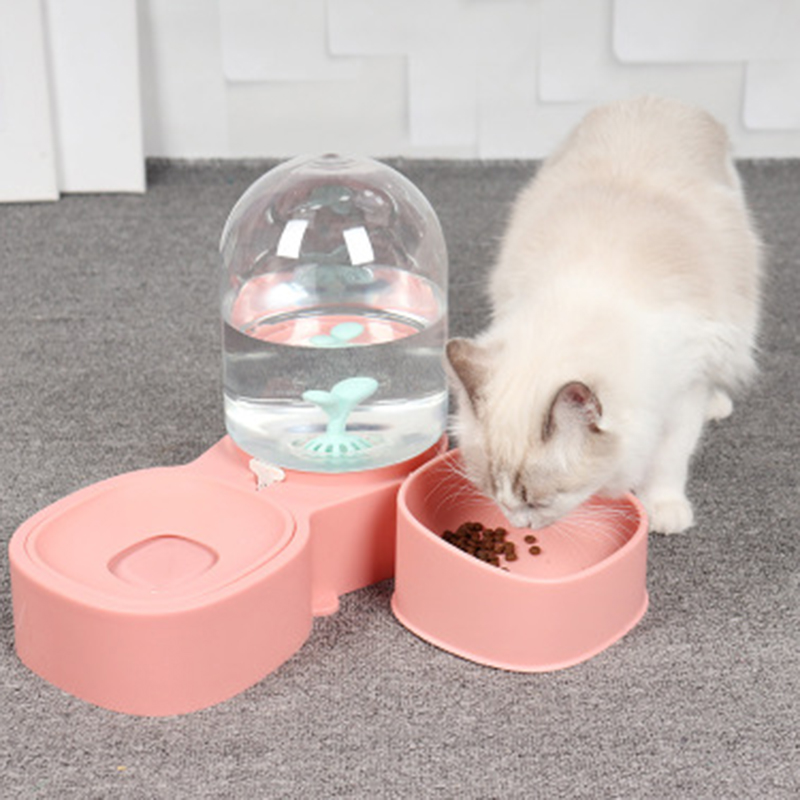 thumbnail 30 - Dog-Cat-Bowl-Fountain-Automatic-Water-Food-Feeder-for-Pet-Supplies-R9K1