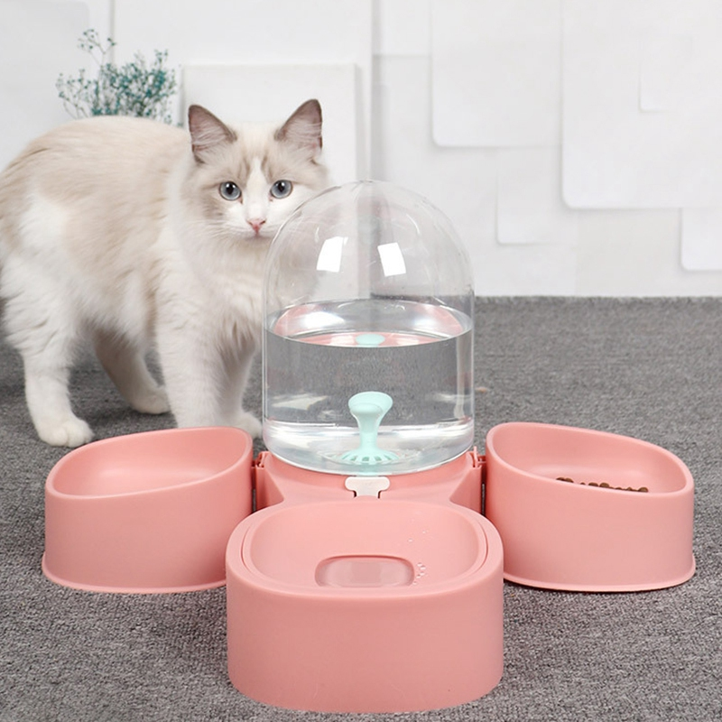 thumbnail 31 - Dog-Cat-Bowl-Fountain-Automatic-Water-Food-Feeder-for-Pet-Supplies-R9K1