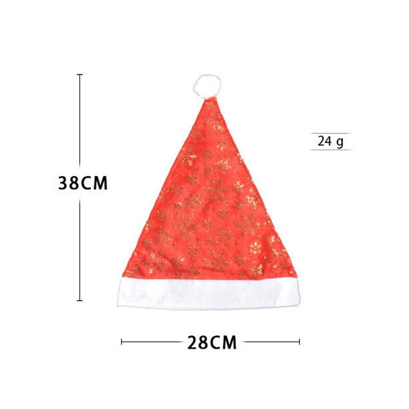 miniatura 7 - el-Sombrero-de-Terciopelo-Dorado-de-Navidad-Se-Utiliza-para-Fiestas-de-V3U8