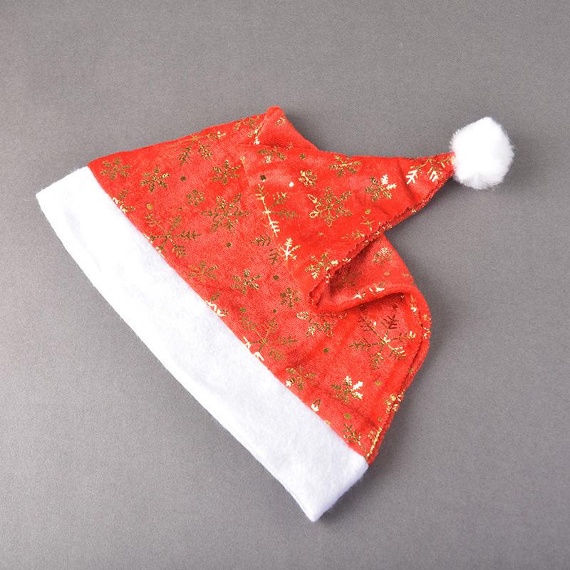 miniatura 11 - el-Sombrero-de-Terciopelo-Dorado-de-Navidad-Se-Utiliza-para-Fiestas-de-V3U8