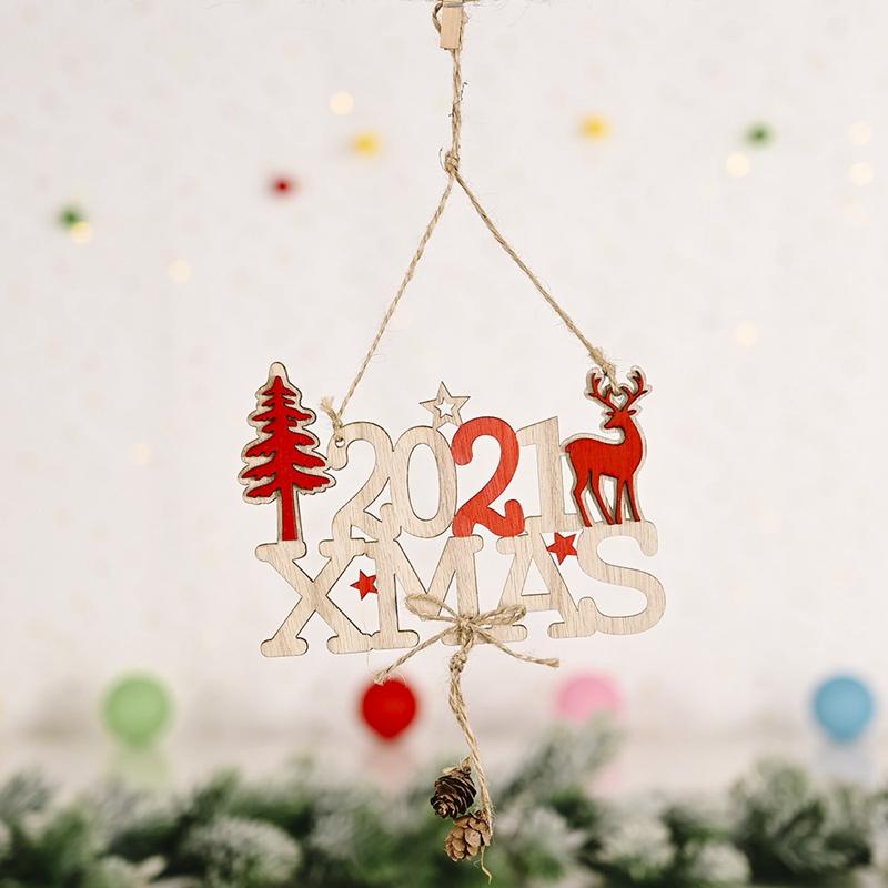 5X-2021-Weihnachten-Neujahr-Elch-Holz-Handwerk-Weihnachtsbaum-HaeNgen-AnhaeNgK2Q2 Indexbild 3