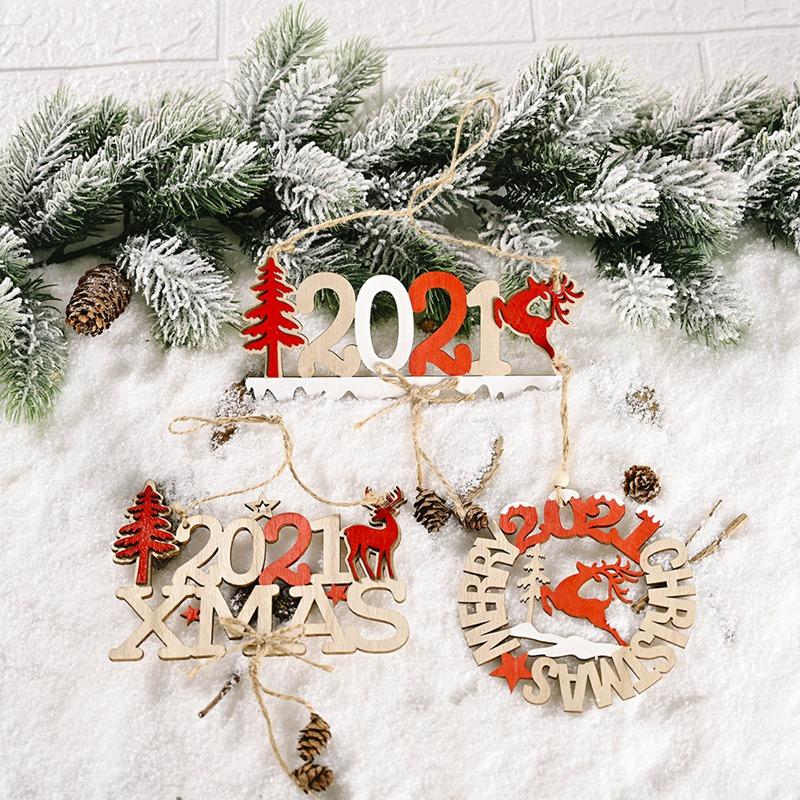 5X-2021-Weihnachten-Neujahr-Elch-Holz-Handwerk-Weihnachtsbaum-HaeNgen-AnhaeNgK2Q2 Indexbild 4