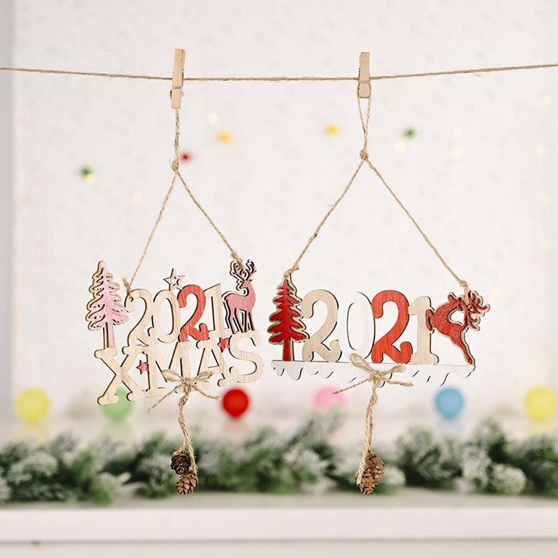 5X-2021-Weihnachten-Neujahr-Elch-Holz-Handwerk-Weihnachtsbaum-HaeNgen-AnhaeNgK2Q2 Indexbild 6