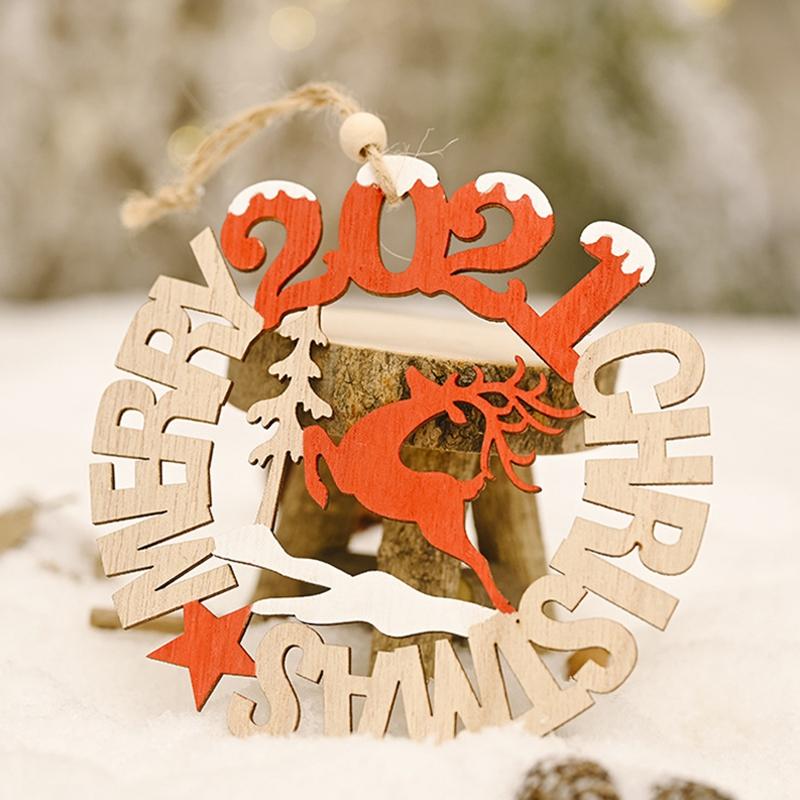 5X-2021-Weihnachten-Neujahr-Elch-Holz-Handwerk-Weihnachtsbaum-HaeNgen-AnhaeNgK2Q2 Indexbild 8