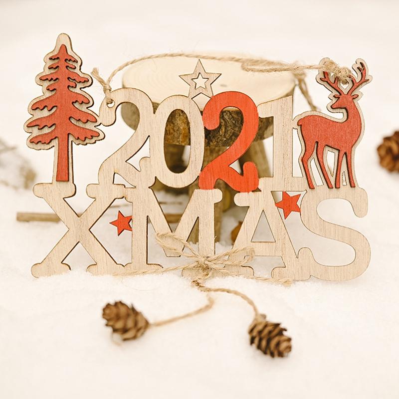 5X-2021-Weihnachten-Neujahr-Elch-Holz-Handwerk-Weihnachtsbaum-HaeNgen-AnhaeNgK2Q2 Indexbild 9