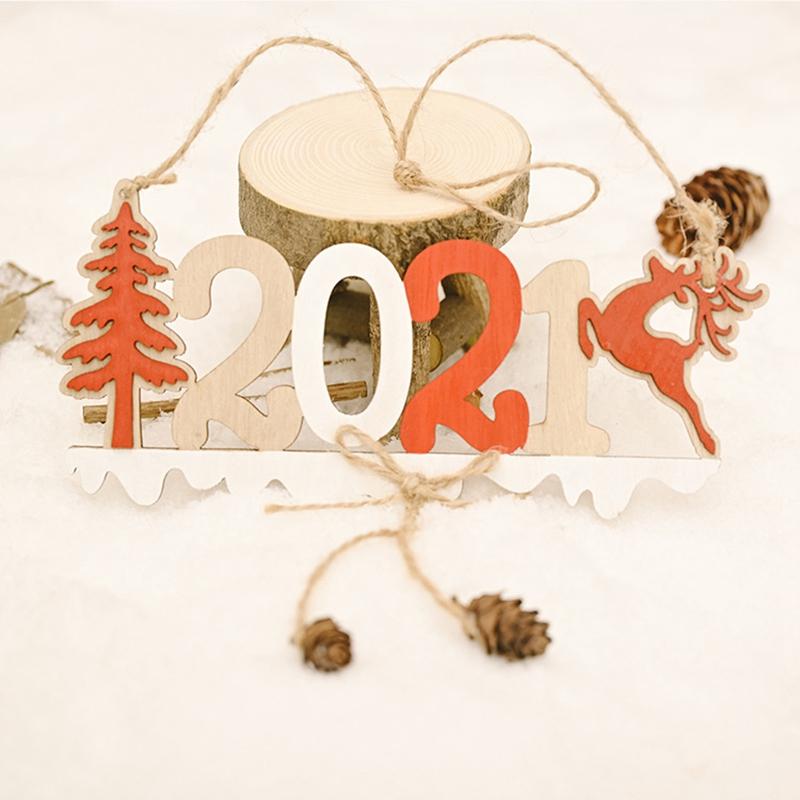 5X-2021-Weihnachten-Neujahr-Elch-Holz-Handwerk-Weihnachtsbaum-HaeNgen-AnhaeNgK2Q2 Indexbild 10
