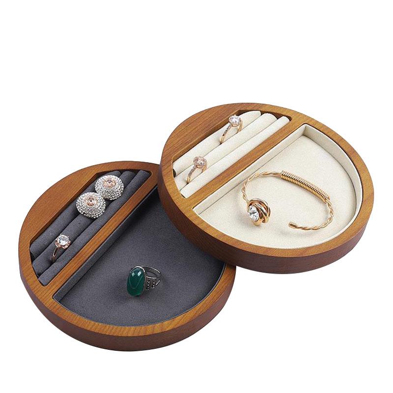 Indexbild 3 - 1X(Schmuck Tablett Display Massivholz Ring Halskette Armband Aufbewahrung T H7K8