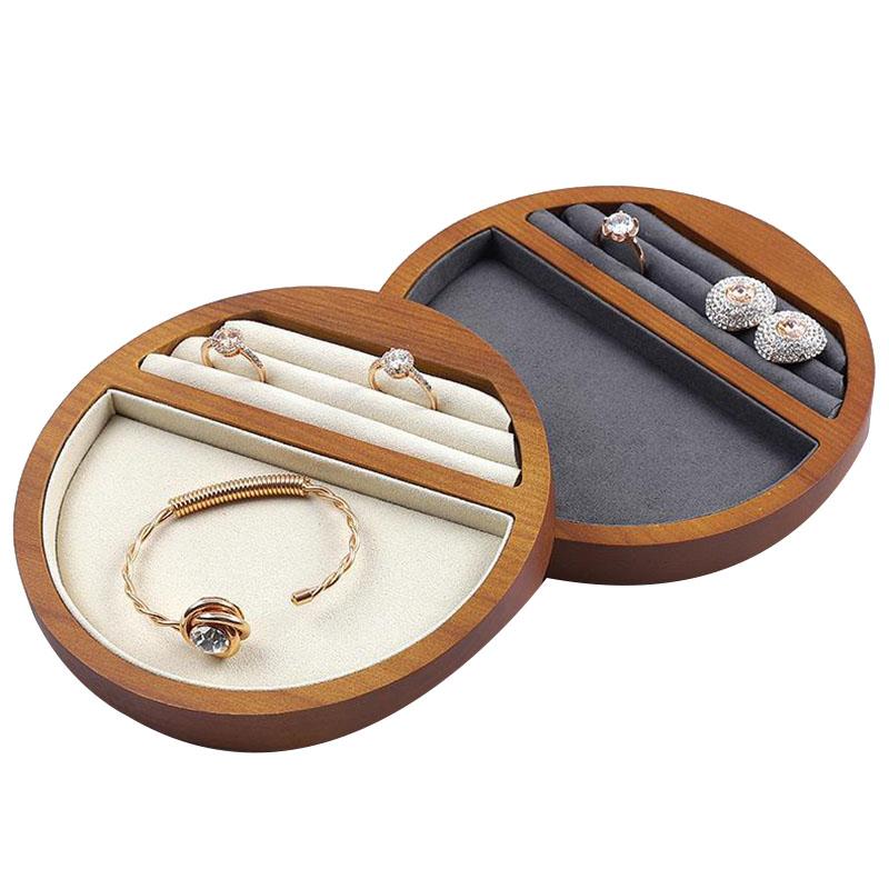 Indexbild 4 - 1X(Schmuck Tablett Display Massivholz Ring Halskette Armband Aufbewahrung T H7K8