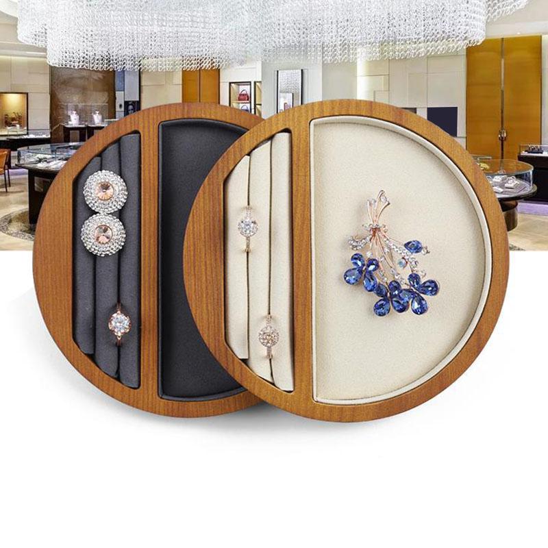 Indexbild 5 - 1X(Schmuck Tablett Display Massivholz Ring Halskette Armband Aufbewahrung T H7K8