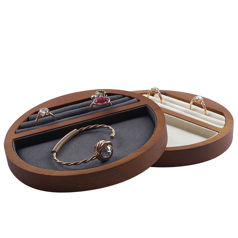 Indexbild 8 - 1X(Schmuck Tablett Display Massivholz Ring Halskette Armband Aufbewahrung T H7K8