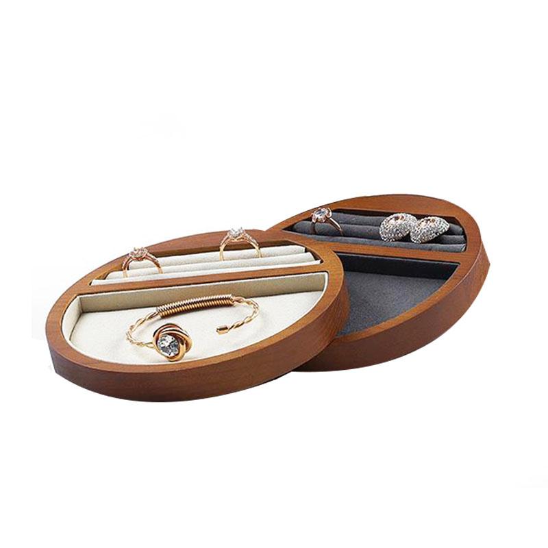 Indexbild 9 - 1X(Schmuck Tablett Display Massivholz Ring Halskette Armband Aufbewahrung T H7K8