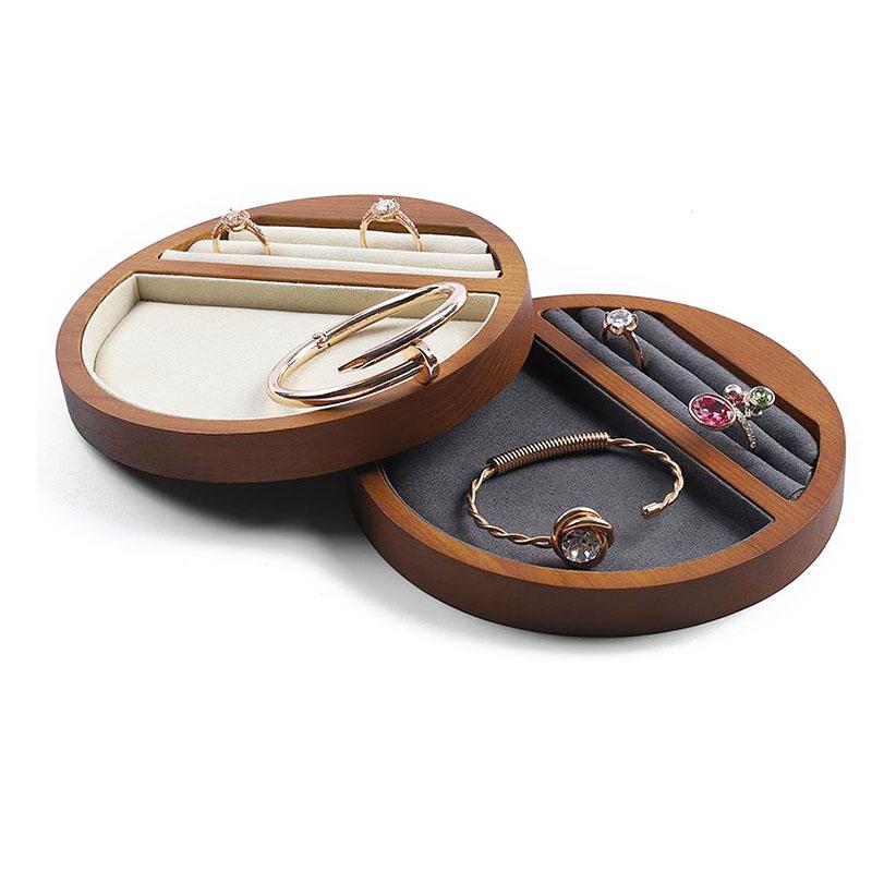 Indexbild 10 - 1X(Schmuck Tablett Display Massivholz Ring Halskette Armband Aufbewahrung T H7K8