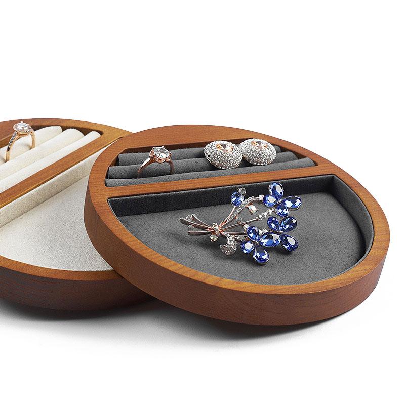 Indexbild 11 - 1X(Schmuck Tablett Display Massivholz Ring Halskette Armband Aufbewahrung T H7K8