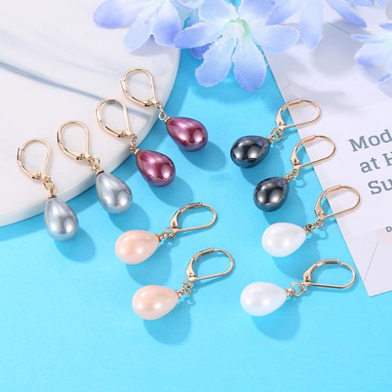 Indexbild 3 - Kreative Mehrfarbige Ohrringe Stilvolle Ohrringe mit SüßEm Temperament Eleg E9U7