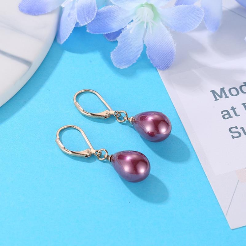 Indexbild 5 - Kreative Mehrfarbige Ohrringe Stilvolle Ohrringe mit SüßEm Temperament Eleg E9U7