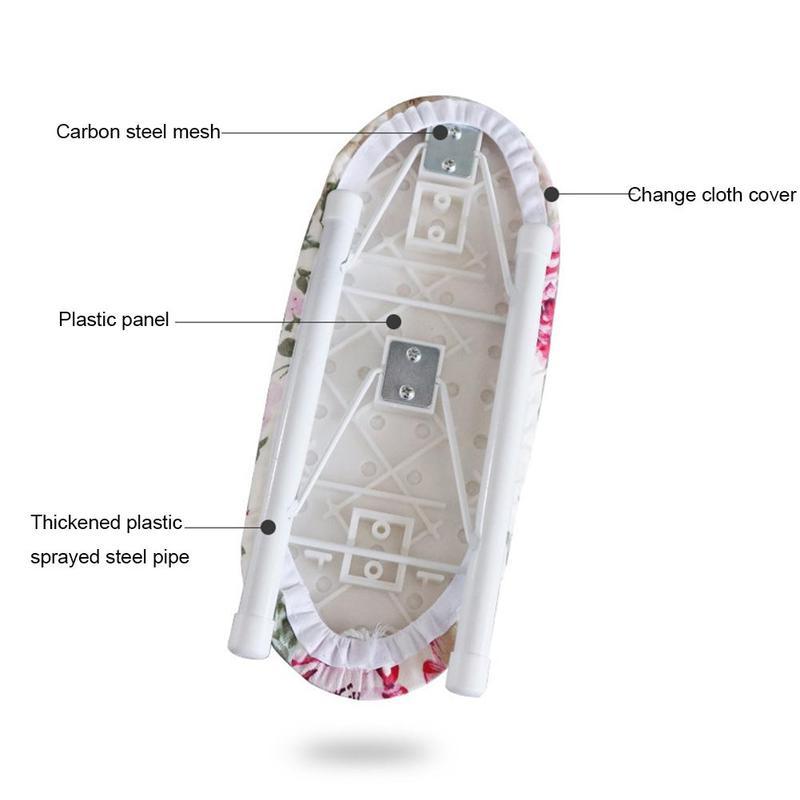 miniature 5 - Planche à Repasser Pliante à la Maison Poignets de Voyage Manchon DéTachabl U8E4