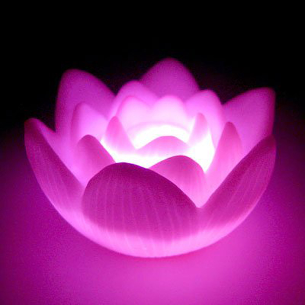 Color Changing Led Lotus Flower Love Mood Lamp Night Light