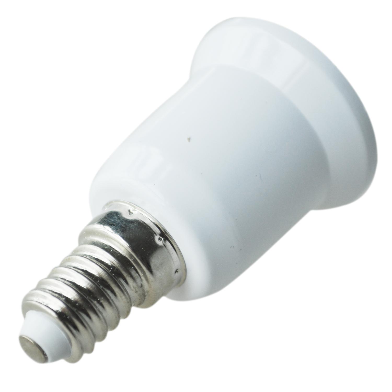 adaptateur d 39 ampoule led cfl convertisseur de douille e14 vers e27 wt ebay. Black Bedroom Furniture Sets. Home Design Ideas