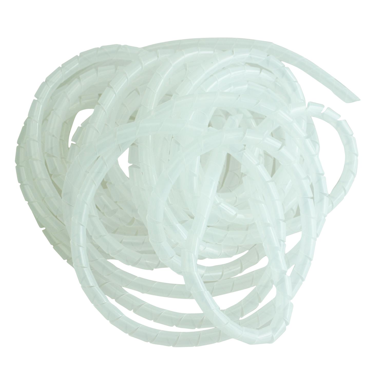 10m langer PE Polyethylen Spiralkabel Draht Schlauch Weiss 10mm ...