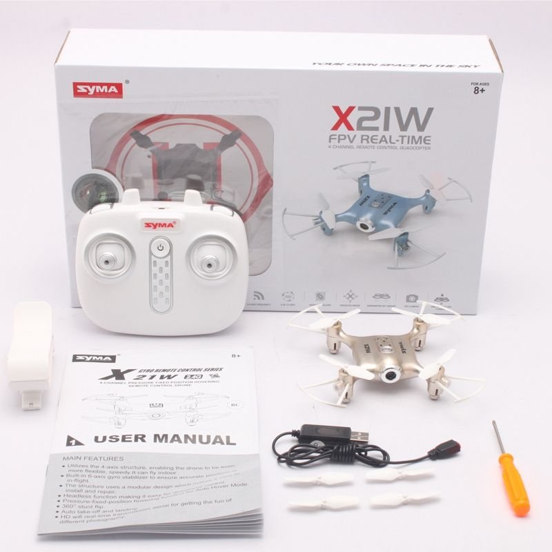 2X(Syma X21W X21W X21W Remote Self-Timer Drone Mini Wireless HD telecamera 4-Channel 6-Ax J4X1 099cef