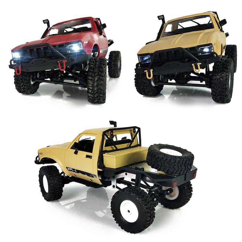 WPL-C14-1-16-Echelle-2-4G-2CH-4WD-Mini-Off-road-RC-Semi-camion-RTR-pour-les-2T6 miniature 16