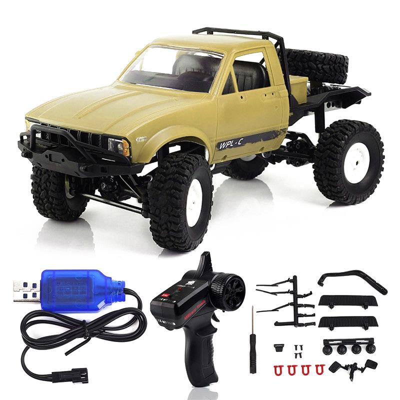 WPL-C14-1-16-Echelle-2-4G-2CH-4WD-Mini-Off-road-RC-Semi-camion-RTR-pour-les-2T6 miniature 17