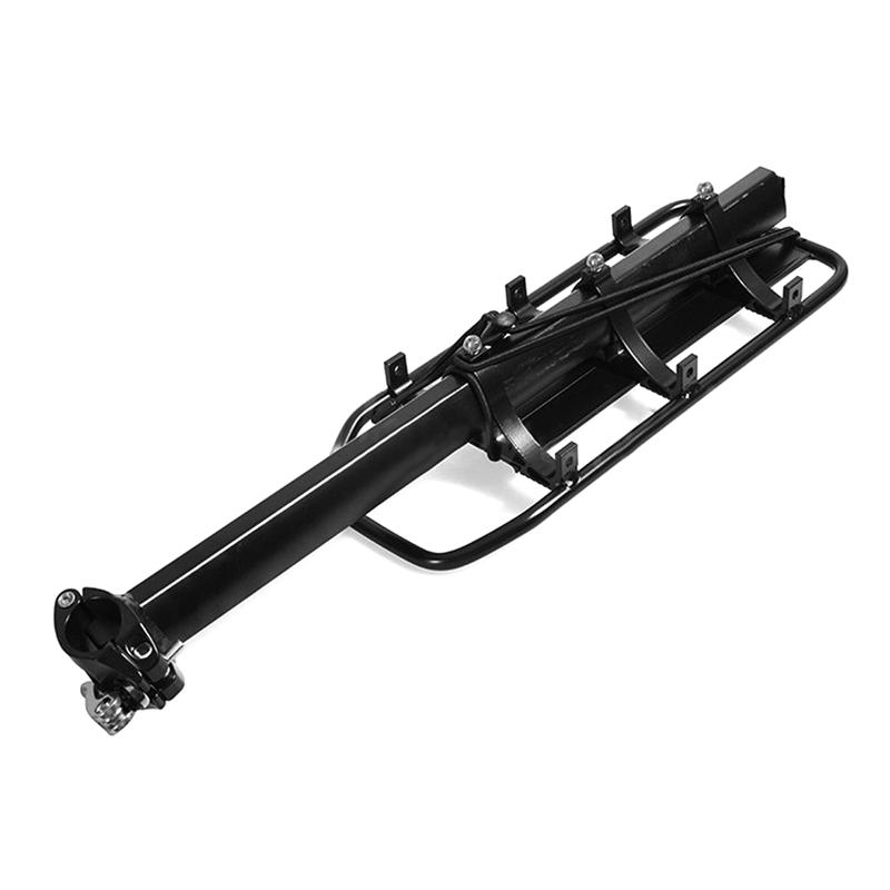 Black-Bike-Quick-Release-Luggage-Seat-Post-Pannier-Carrier-Rear-Rack-Fender-L3O3 Indexbild 8