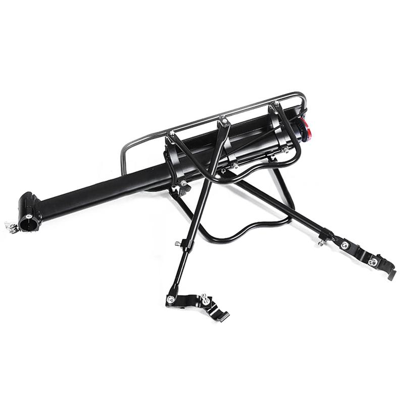 Black-Bike-Quick-Release-Luggage-Seat-Post-Pannier-Carrier-Rear-Rack-Fender-L3O3 Indexbild 2