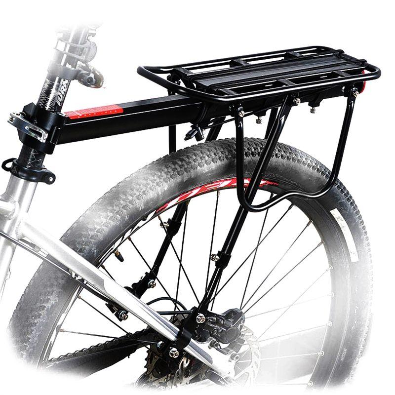 Black-Bike-Quick-Release-Luggage-Seat-Post-Pannier-Carrier-Rear-Rack-Fender-L3O3 Indexbild 4