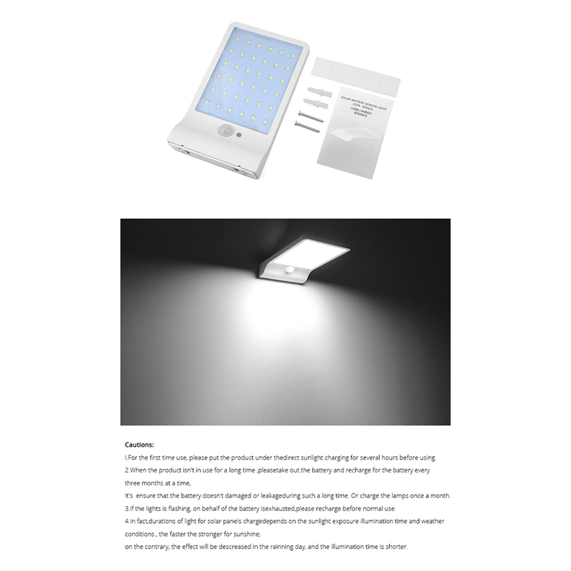 36-LED-luz-de-energia-solar-brillante-Sensor-de-movimiento-PIR-Seguridad-al-a-PB miniatura 9
