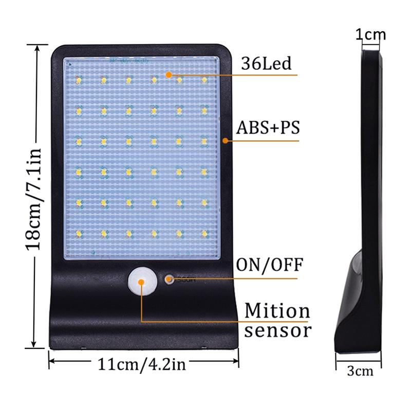36-LED-luz-de-energia-solar-brillante-Sensor-de-movimiento-PIR-Seguridad-al-a-PB miniatura 14