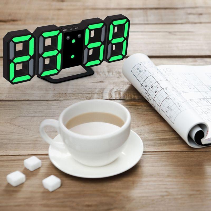 Nouvelle-Horloge-Murale-Moderne-de-3D-LED-Horloge-Murale-Numerique-SC miniature 5
