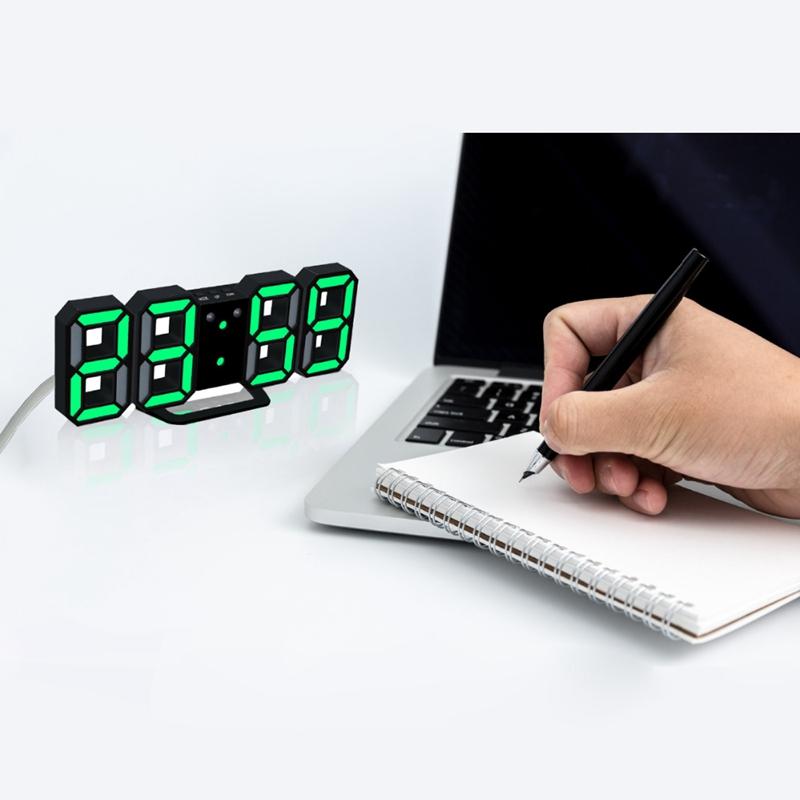 Nouvelle-Horloge-Murale-Moderne-de-3D-LED-Horloge-Murale-Numerique-SC miniature 8